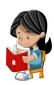 Mädchen liest im Buch
